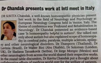 Dr. Chandak presents work at international meet in Italy
